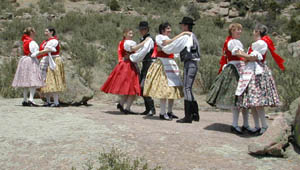 Storm Mountain Folk Dancers header with picture of dancers in Hungarian costume
