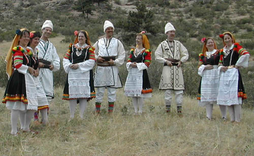 Storm Mountain Folk Dancers header with picture of dancers in Bulgarian costume